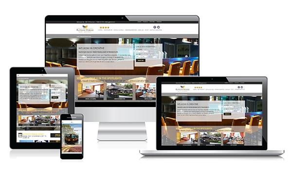 Responsive webdesign Hotel Restaurant Ruyghe Venne