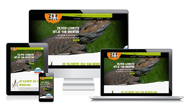Responsive webdesign Mini Dierentuin Zoo Bizar